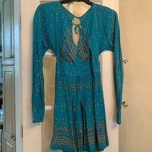 Free People Green Comb Dress